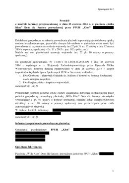 Nr244 - Willa Klon Lipiany protokół