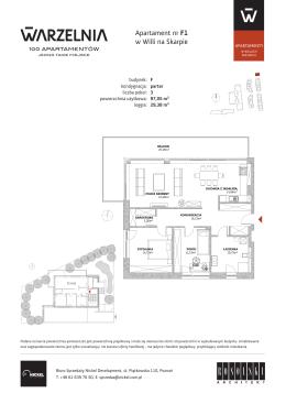 Apartament nr F1 w Willi na Skarpie