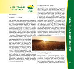 AGROPORADNIK nr 10/2015 - Top Farms Agro Sp. z oo