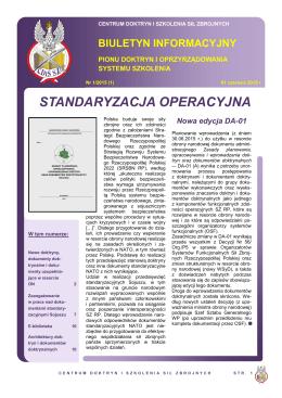 Zobacz załączony dokument - Centrum Doktryn i Szkolenia Sił