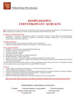 Informacje o kursie KNX