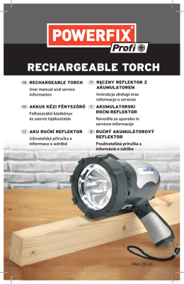 RECHARGEABLE TORCH - Lidl Service Website