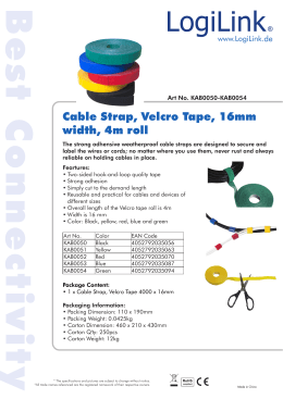 Cable Strap, Velcro Tape, 16mm width, 4m roll