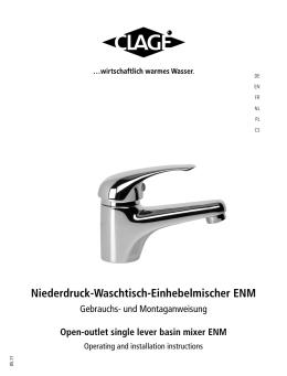 Niederdruck-Waschtisch-Einhebelmischer ENM