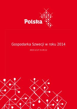 Gospodarka Szwecji w roku 2014