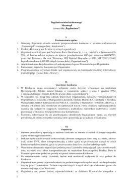 Regulamin serwisu konkursowego Memotropil (zwany dalej