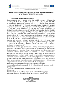 Sprawozdanie IV-VI 2015r.