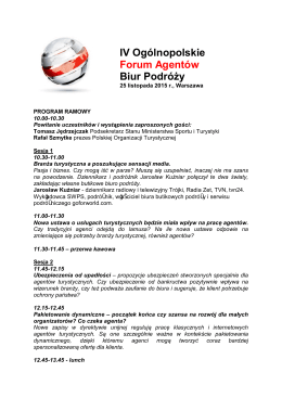 IV Ogólnopolskie Forum Agentów Biur Podróży