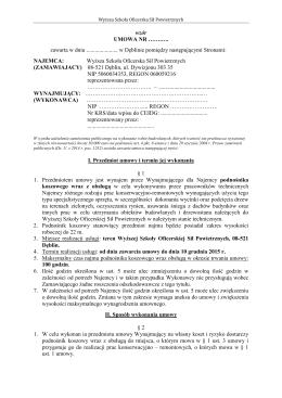 wzór umowy - BIP WSOSP