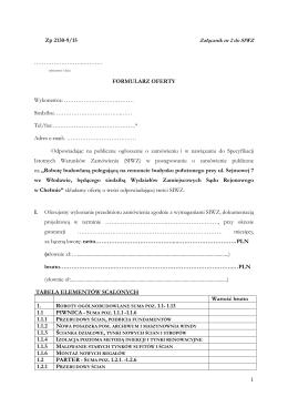 Załącznik Nr 2 - Wzór Formularza oferty