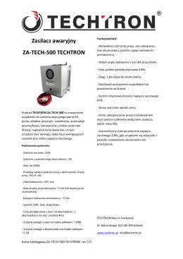 Karta katalogowa ZA-TECH-500