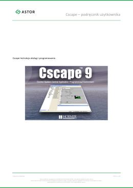 Cscape – podręcznik użytkownika
