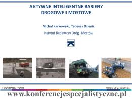 Aktywne inteligentne Bariery Drogowe i Mostowe