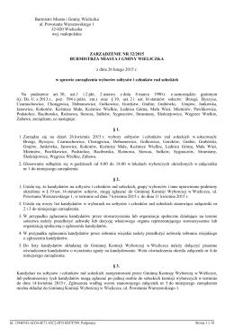 Zarzadzenie Nr 32/2015 z dnia 26 lutego 2015 r.