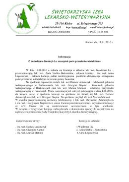 Informacja z posiedzenia Komisji