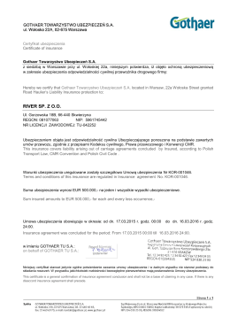 RIVER SP. Z O.O. - RIVER Skwierzyna