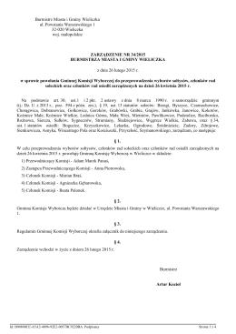 Zarzadzenie Nr 34/2015 z dnia 26 lutego 2015 r.