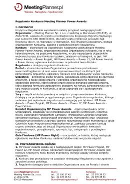 Regulaminem - MP Power Awards