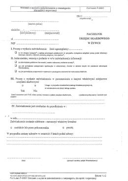 Wniosek o wydanie zaświadczenia o niezaleganiu dla spółki i