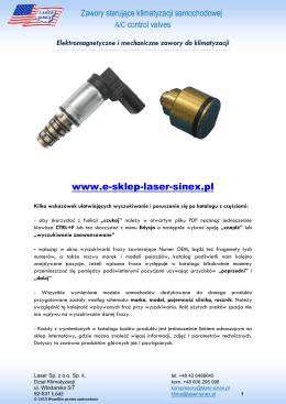 Zawory sterujące do klimatyzacji samochodowej - Laser