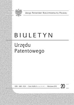bup20_2015 - Wyszukiwarka Urzędu Patentowego