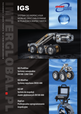 IGS ProfiFlex Systemy samojezdne DN100