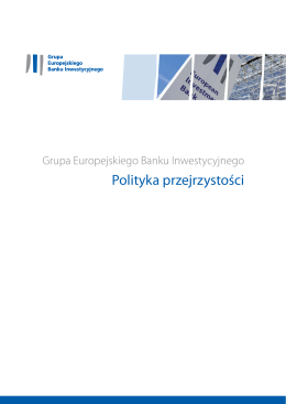 Polityka przejrzystości Grupy EBI