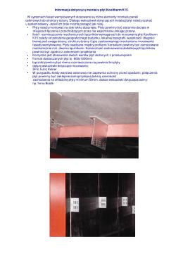 Informacja dotyczącą montażu płyt Kooltherm K15. W