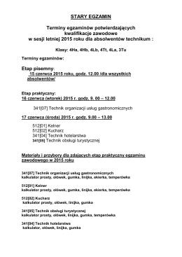 Komunikat Dyrektora Okręgowej Komisji Egzaminacyjnej we