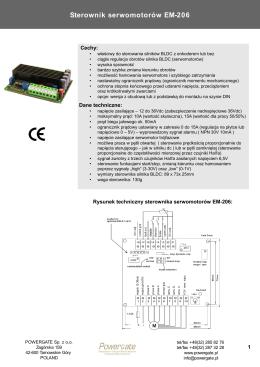Sterownik serwomotorów EM-206