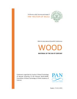 Program konferencji - Wydział Technologii Drewna WTD SGGW