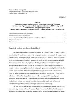 Stanisław Jerzy Szmagalski Instytut Profilaktyki Społecznej i
