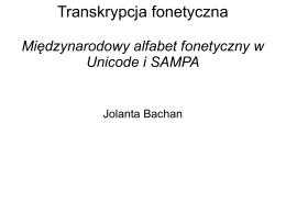 Transkrypcja fonetyczna - Jolanta Bachan