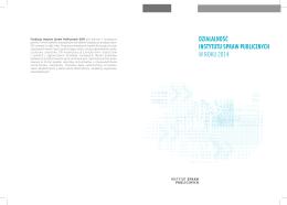 Sprawozdanie z działalności merytorycznej ISP 2014