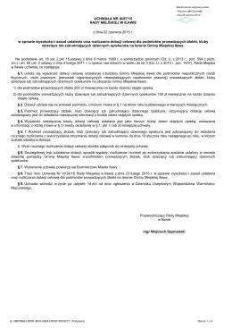 Uchwala Nr XI/87/15 z dnia 22 czerwca 2015 r.