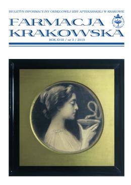 ROK XVIII / nr 3 / 2015 - Okręgowa Izba Aptekarska w Krakowie
