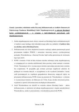 Strona 1 z 38 § 1. Zasady i procedury udzielania osobie fizycznej
