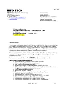 Oferta dwudniowego zaawansowanego szkolenia z komunikacji IEC