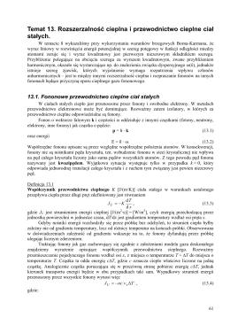 Temat 13. Rozszerzalno ş cieplna i przewodnictwo cieplne ciaˇ