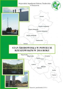 Stan środowiska na terenie powiatu rzeszowskiego w 2014 roku