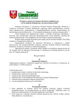 10 lat edukacji ekologicznej w powiecie limanowskim