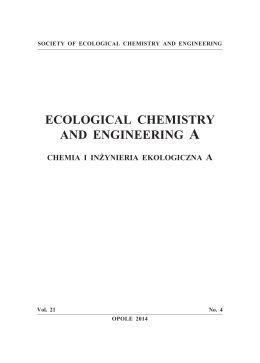 00b-Tytulowe.vp:CorelVentura 7.0 - Society of Ecological Chemistry