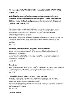 I - XIII Sympozjum WSPB 1978-2012