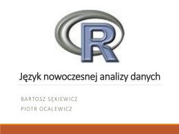 R – język nowoczesnej analizy danych