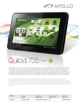Tablet Quicki 735 to nowoczesne, ale przyjazne