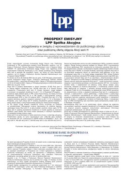 Prospekt emisyjny LPP – 2003