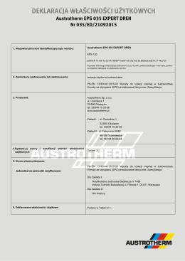 DWU Austrotherm EPS 035 Expert Dren