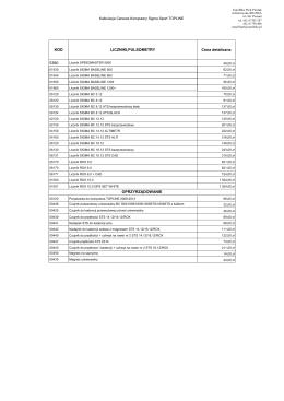 KOD LICZNIKI,PULSOMETRY Cena detaliczna 5360