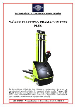 Specyfikacja techniczna modelu GX 12/35 PLUS
