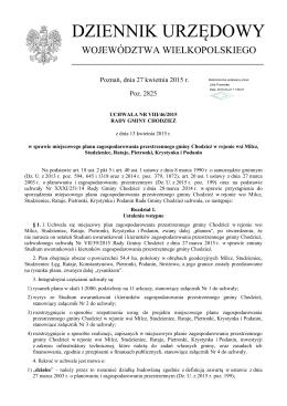Uchwała Nr VIII/46/2015 z dnia 13 kwietnia 2015 r.